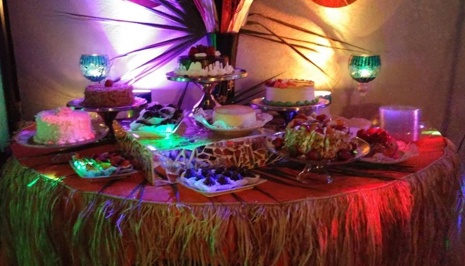 Hawaiian Themed Dessert Bar