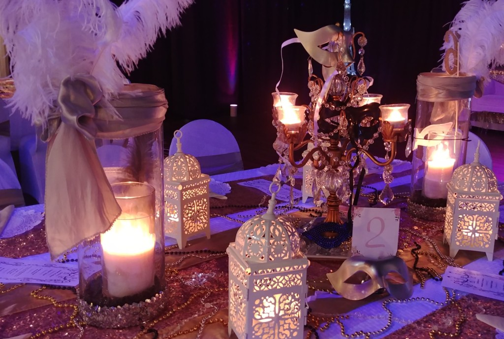 Masquerade Guest Table Centerpiece