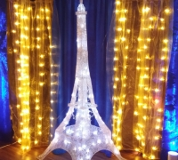 Blue & Gold Eiffel Tower - Photo Area Back Drop