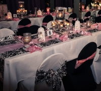 Damask & Pink Guest Tables